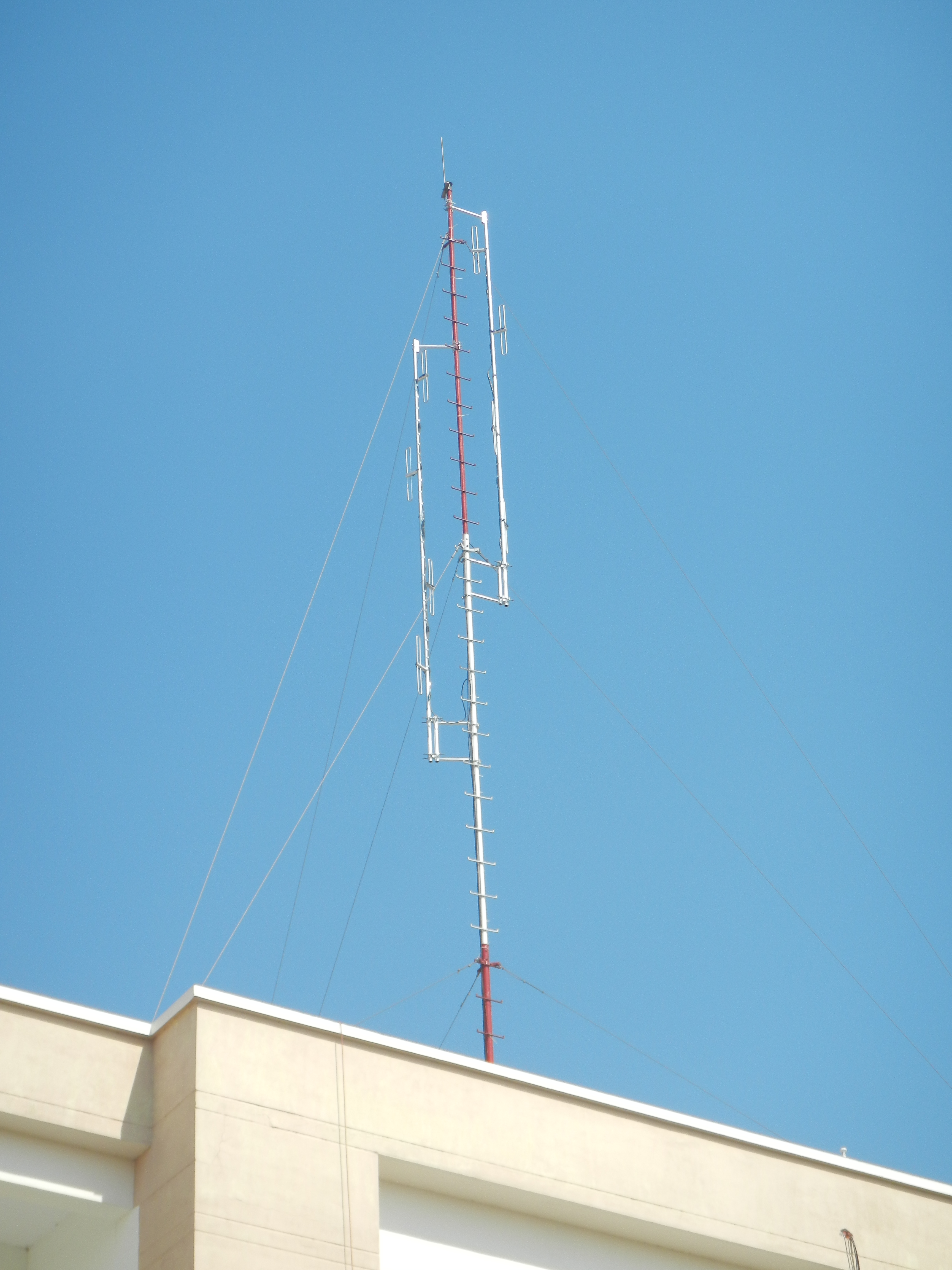 vhf antenna tower border and coastal surveillance system