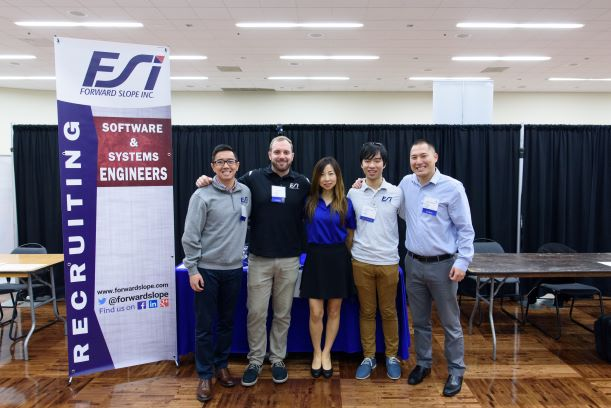FSI Team: Mr. Jason Mak, Mrs. Jun Gunthardt, Mr. Darren Tung, Mr. Takashi Koizumi and Mr. David Hart, with support from our HR Manager, Mrs. Karla Corral attended a very successful UCSD Career Fair.